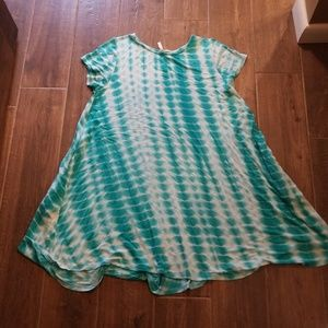 Mitoshop▪Turquoise tie Dye dress